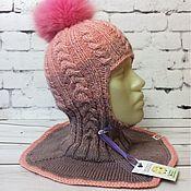 """Аксессуары handmade. Livemaster - original item Шапка шлем """"розовое Амбре"""". Handmade."""