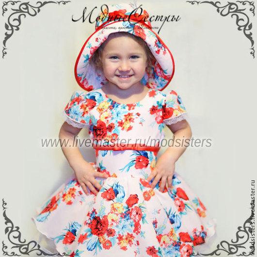 """Одежда для девочек, ручной работы. Ярмарка Мастеров - ручная работа. Купить Детское платье """"Цветы"""" Арт.159. Handmade."""