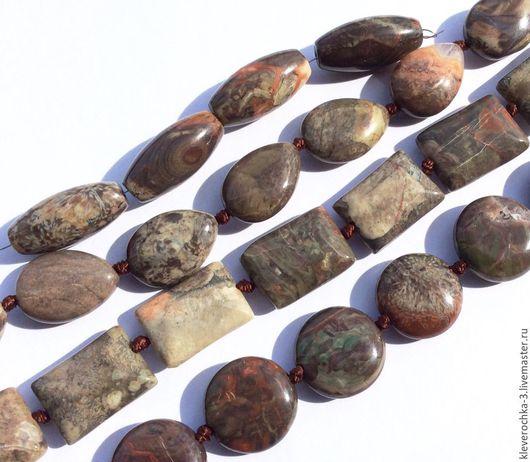 Для украшений ручной работы. Ярмарка Мастеров - ручная работа. Купить .Яшма мховая 4 формы гладкие бусины камни для украшений. Handmade.