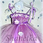 Работы для детей, ручной работы. Ярмарка Мастеров - ручная работа Пышное платье для девочки  Сирень. Handmade.