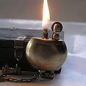 Подарки к праздникам ручной работы. Ярмарка Мастеров - ручная работа Зажигалка круглая мельхиоровая. Handmade.