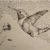 Картины и панно ручной работы. Ярмарка Мастеров - ручная работа Колибри. Handmade.