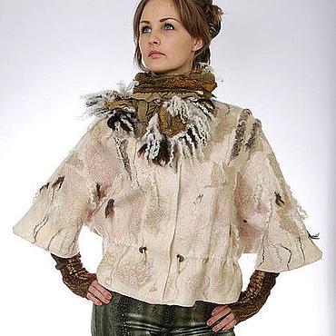 Одежда ручной работы. Ярмарка Мастеров - ручная работа Жакет-куртка Полей прохлада. Handmade.