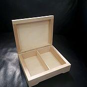 Материалы для творчества handmade. Livemaster - original item NEW! 15 13 5 cm (2 YACH.) The box blank with mortise hinges. Handmade.