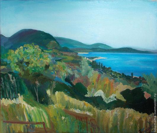 Картина. Абхазия. Вид на Афонскую гору работа Ольги Петровской-Петовраджи
