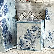 Для дома и интерьера handmade. Livemaster - original item Kitchen set in the style of toile de jouy (a French classic). Handmade.