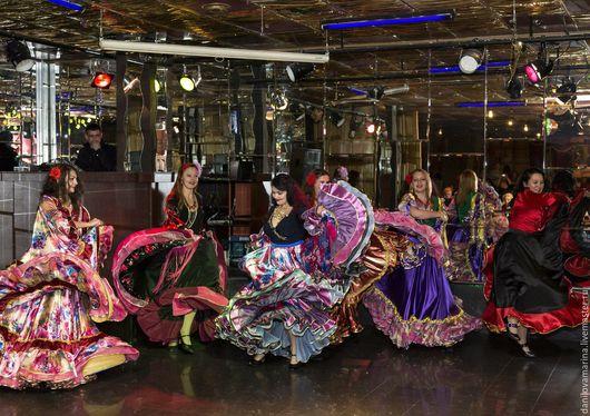 Танцевальные костюмы ручной работы. Ярмарка Мастеров - ручная работа. Купить Цыганская юбка. Handmade. Цыганская юбка, вуаль