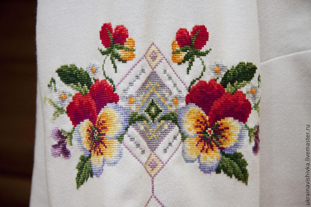 Вышивка крестом блузки