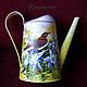 Watering Сans handmade. Livemaster - handmade. Buy Lake Nightingale.Bird, lake, for flowers, watering can for flowers