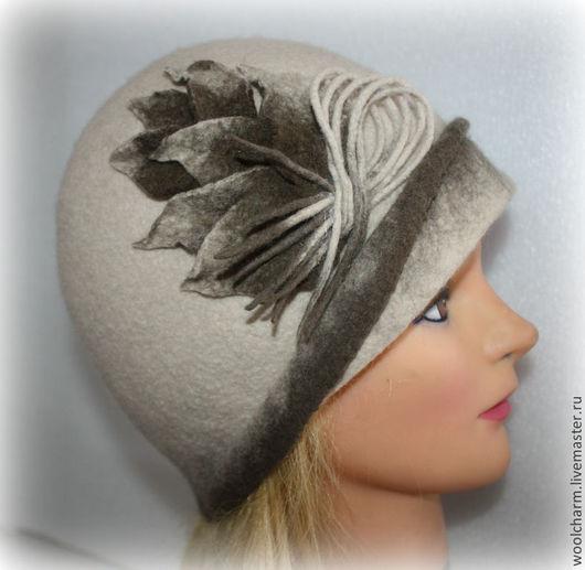 Шляпы ручной работы. Ярмарка Мастеров - ручная работа. Купить Шляпка валяная Поздняя осень. Handmade. Бежевый, зимняя шляпка