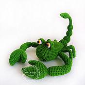 Куклы и игрушки handmade. Livemaster - original item Scorpio. Crochet toy on the frame.. Handmade.