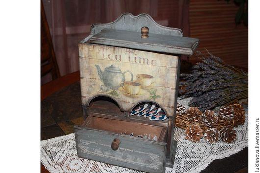 """Кухня ручной работы. Ярмарка Мастеров - ручная работа. Купить Буфет """"Tea time"""". Handmade. Серый, Декор, подарок"""