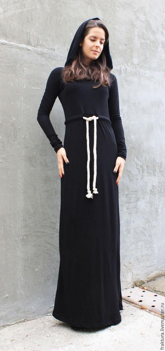 """Платья ручной работы. Ярмарка Мастеров - ручная работа. Купить Платье"""" Hoodie"""" D0017. Handmade. Пышное платье, черное платье"""