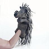 Куклы и игрушки handmade. Livemaster - original item Porcupine glove toy, theater doll, puppet theater.. Handmade.