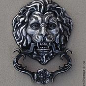 """Для дома и интерьера ручной работы. Ярмарка Мастеров - ручная работа дверной молоток""""лев"""". Handmade."""