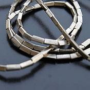 Материалы для творчества ручной работы. Ярмарка Мастеров - ручная работа Нитка спейсеров sPT018, мини трубочка, серебро ручной работы. Handmade.