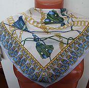 Винтаж ручной работы. Ярмарка Мастеров - ручная работа Шейные брендовые платки. Handmade.