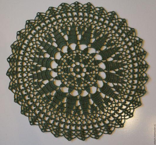 Текстиль, ковры ручной работы. Ярмарка Мастеров - ручная работа. Купить Салфетка декоративная БОЯРЫШНЯ. Handmade. Тёмно-зелёный, для дизайна