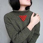 Одежда handmade. Livemaster - original item Knitted alpaca sweater, alpaca jumper