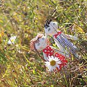 Куклы и игрушки handmade. Livemaster - original item Textile dolls Kay and Gerda. Handmade.