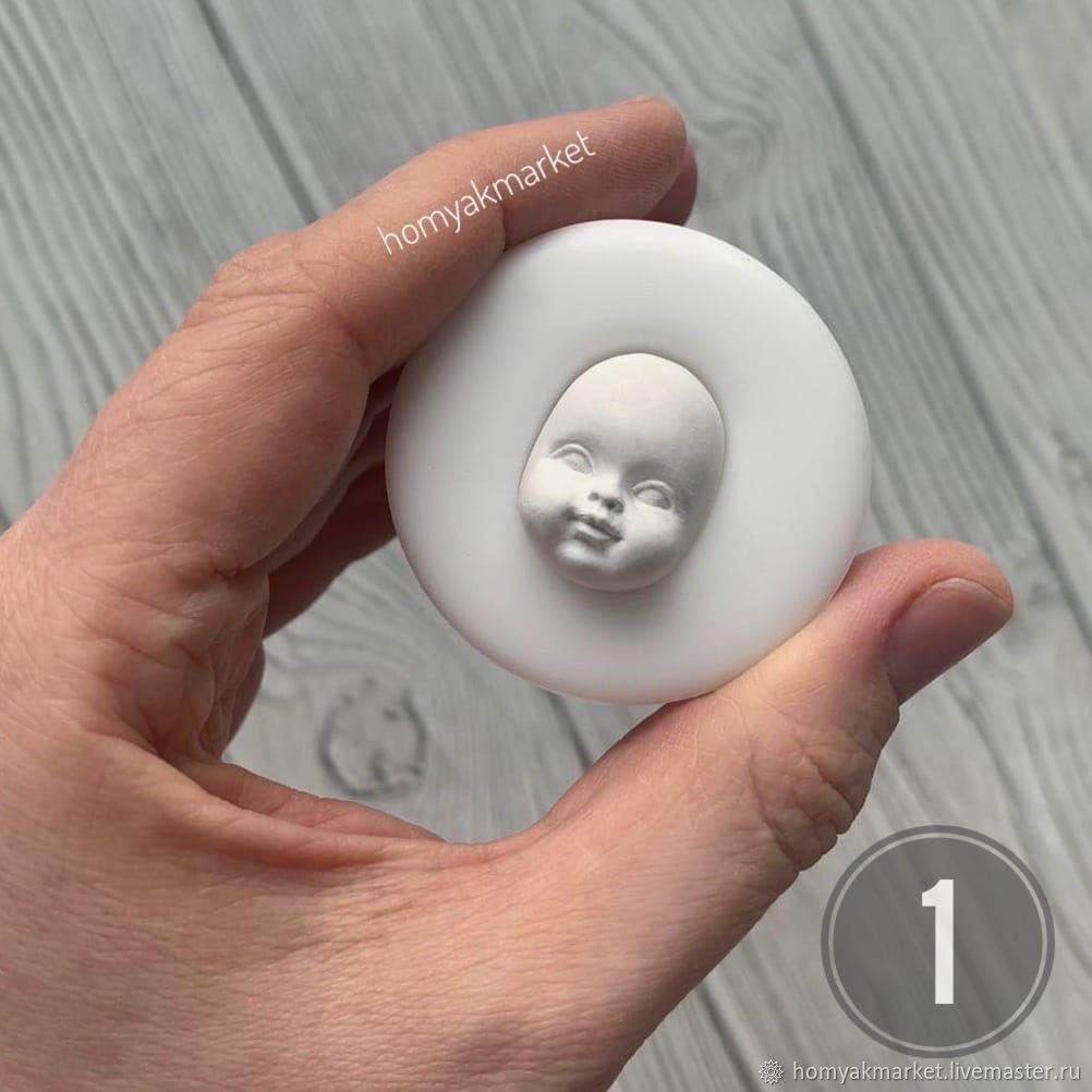Молд №1 (форма для изготовления лица), Заготовки для кукол и игрушек, Москва,  Фото №1