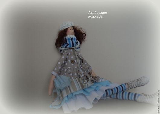 Куклы Тильды ручной работы. Ярмарка Мастеров - ручная работа. Купить Тильда в стиле бохо. Handmade. Голубой, стиль бохо