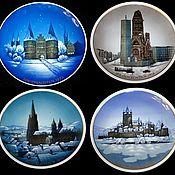 Винтаж handmade. Livemaster - original item Rare Christmas plates, hand painted, Rosenthal,Germany. Handmade.