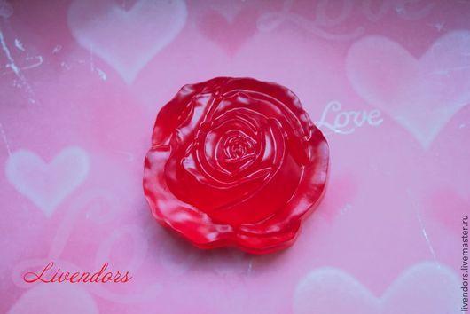 """Мыло ручной работы. Ярмарка Мастеров - ручная работа. Купить Мыло """"Красная роза"""". Handmade. Ярко-красный"""