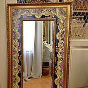 Для дома и интерьера handmade. Livemaster - original item Painted tiles Painted mirror Paloposki pattern. Handmade.