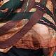 Шали, палантины ручной работы. шарф   ПЛЕТЕНИЯ. Ольга Соловей (ptichkahelga). Ярмарка Мастеров. Модный аксессуар, коричнево-зеленый