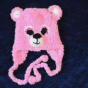 """Работы для детей, ручной работы. Ярмарка Мастеров - ручная работа Шапочка для новорожденного """"Розовый медвежонок"""". Handmade."""