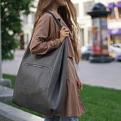 Сумки и аксессуары handmade. Livemaster - original item Grey tote Bag is a huge bag shopper shopping Bag t shirt Bag. Handmade.