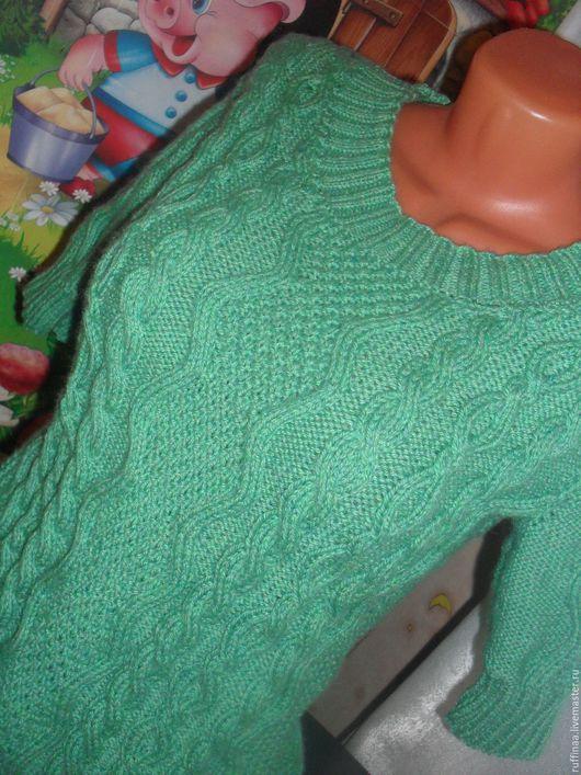 Кофты и свитера ручной работы. Ярмарка Мастеров - ручная работа. Купить Свитер Зелёный.. Handmade. Зеленый, свитер женский