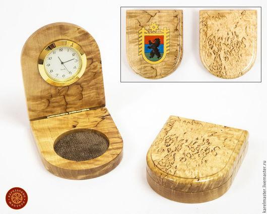 Часы для дома ручной работы. Ярмарка Мастеров - ручная работа. Купить Часы складные. Handmade. Карельская береза, часы интерьерные