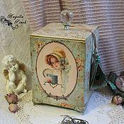 """Для дома и интерьера ручной работы. Ярмарка Мастеров - ручная работа """"Дамская комната"""" короб для будуара. Handmade."""