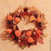 """Для дома и интерьера ручной работы. Ярмарка Мастеров - ручная работа Венок """"Осенний вальс"""". Handmade."""