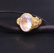 "Украшения handmade. Livemaster - original item ""Antique ring with lavender moon quartz"". Handmade."