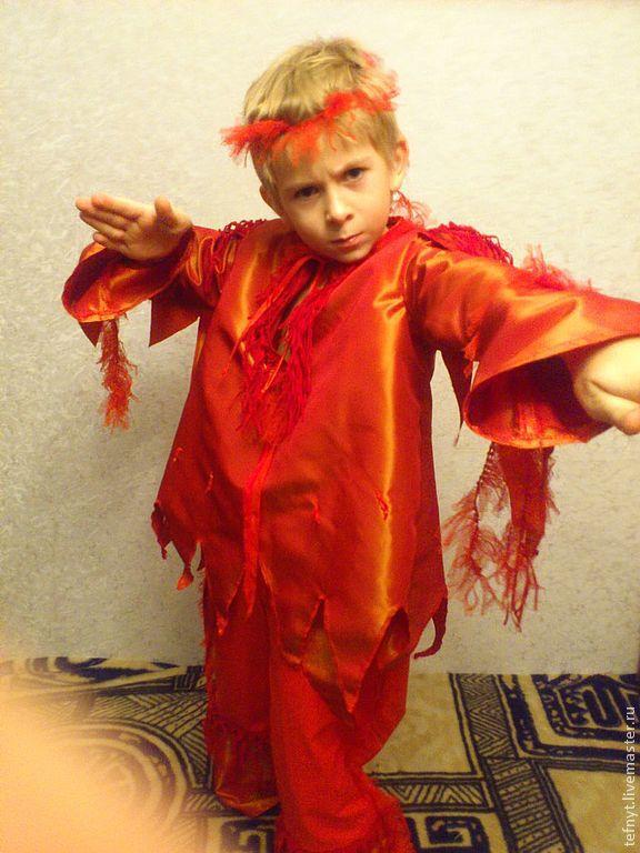 Как сшить костюм огня для девочки 72