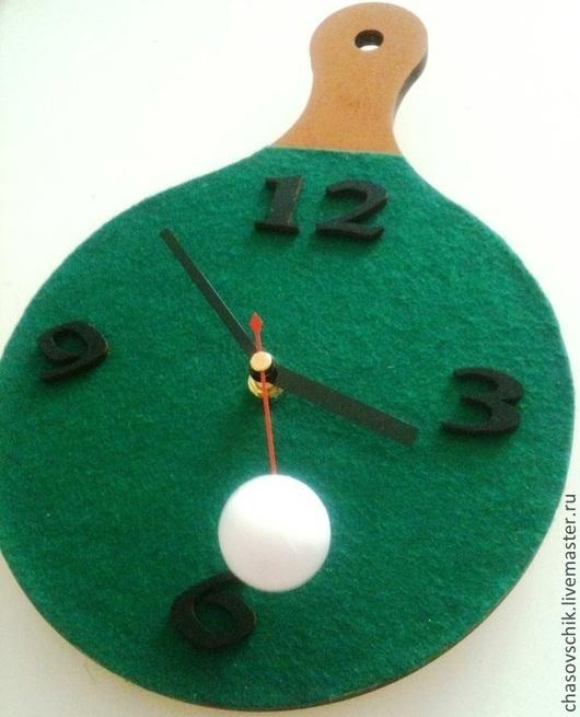 """Часы для дома ручной работы. Ярмарка Мастеров - ручная работа. Купить Часы настенные """"Пинг-Понг"""" с бегущим шариком. Handmade."""