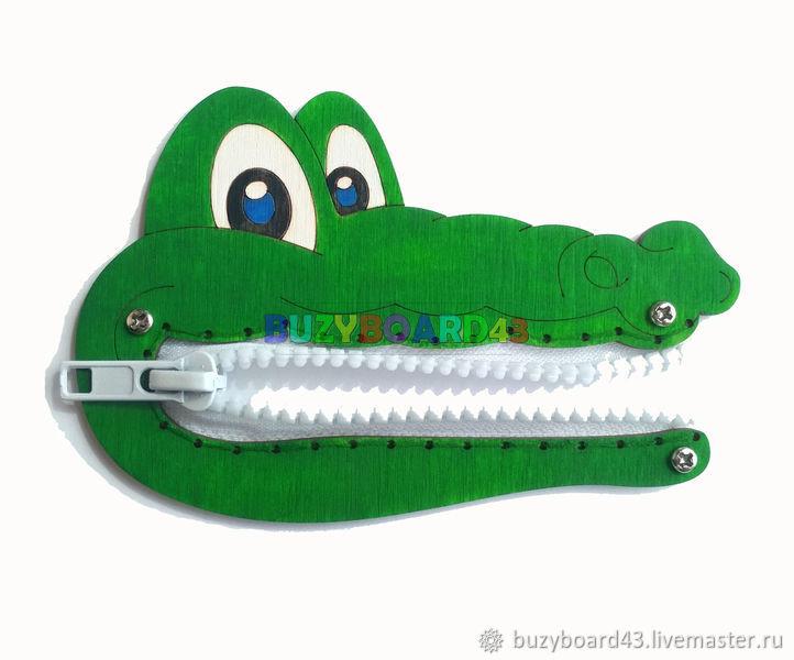 Заготовка для Бизиборда Крокодил. Заготовка под молнию, Бизиборды, Киров,  Фото №1