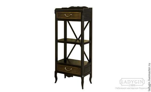 Мебель ручной работы. Ярмарка Мастеров - ручная работа. Купить Деревянная узкая этажерка с 2 ящиками в стиле прованс. Handmade.