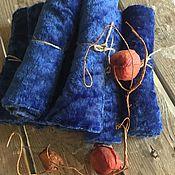 Материалы для творчества ручной работы. Ярмарка Мастеров - ручная работа Плюш-винтаж Индиго. Handmade.