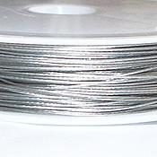 Шнуры ручной работы. Ярмарка Мастеров - ручная работа Ювелирная струна (ланка) серебристая 0,45мм 1м. Handmade.