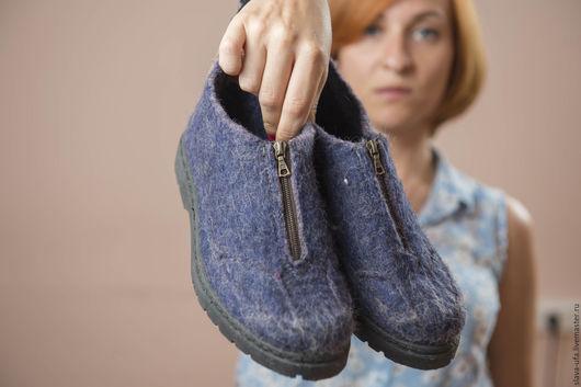 Обувь ручной работы. Ярмарка Мастеров - ручная работа. Купить Туфли Old School-1. Handmade. Лазурь, обувь на заказ