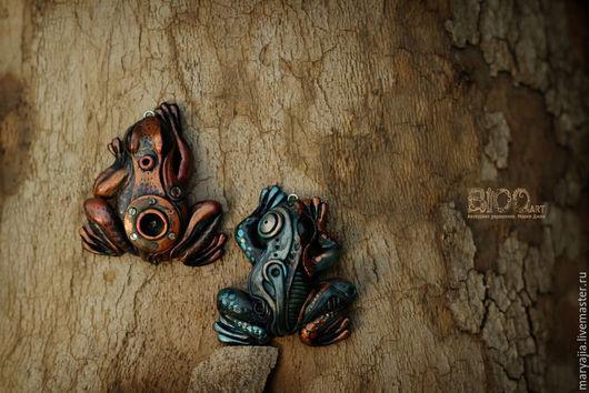 """Кулоны, подвески ручной работы. Ярмарка Мастеров - ручная работа. Купить Стимпанк кулон """"Лягушка"""". Handmade. Лягушка, квакушка"""