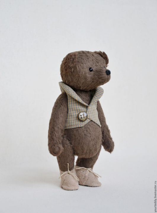 Мишки Тедди ручной работы. Ярмарка Мастеров - ручная работа. Купить Мишка-тедди Бруно, рост 15,5см. Handmade.