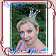 """корона """"Царица"""". Украшения в прическу. Bagira-Olga Эксклюзивные украшения. Ярмарка Мастеров.  Фото №4"""
