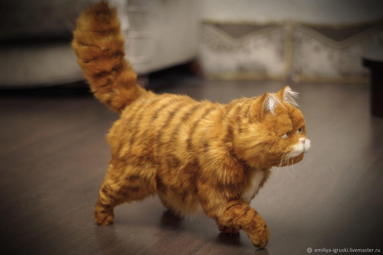 Red Cat Garfield In The Style Of Teddy Nature Zakazat Na Yarmarke Masterov Lj9hecom Myagkie Igrushki Tyumen