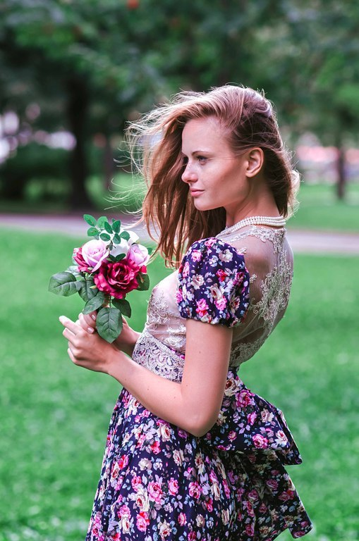 Платья ручной работы. Ярмарка Мастеров - ручная работа. Купить Платье для летнего отдыха  «Екатерина». Handmade. Тёмно-синий, цветочный