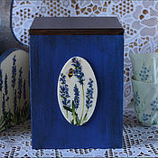 """Для дома и интерьера ручной работы. Ярмарка Мастеров - ручная работа Короб для кухни """"Синий"""". Handmade."""